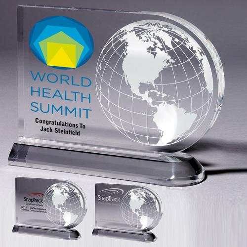 2062S (Screen Print), 2062L (Laser), 2062P (4Color Process) - Medium Globe Award