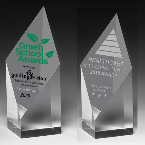 """2217S (Screen Print), 2217L (Laser) - Diamond Obelisk Award - 5 3/4"""""""
