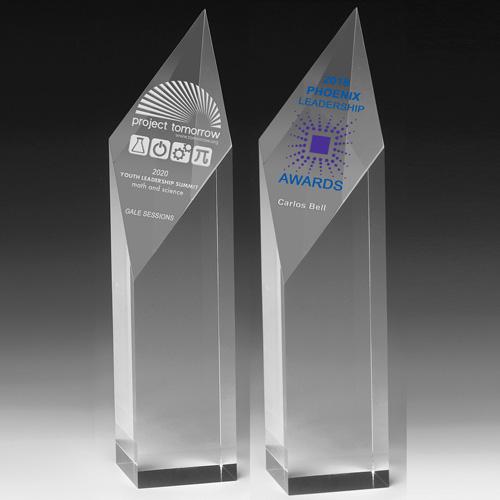 """2227S (Screen Print), 2227L (Laser) - Diamond Obelisk Award - 9"""""""
