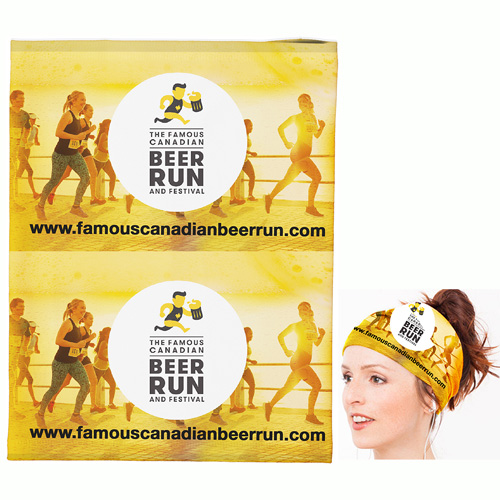 """""""Full Color Sublimation Cooling Fandana™"""" 170 GSM Multi-Functional Cooling Gaiter, Facecover and Headwear - Overseas Production"""