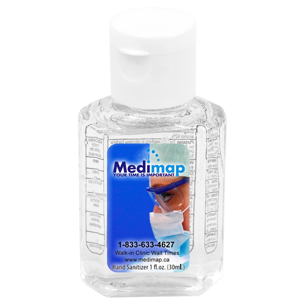 """""""SanPal"""" 1.0 oz Compact Hand Sanitizer Antibacterial Gel in Flip-Top  Squeeze Bottle"""