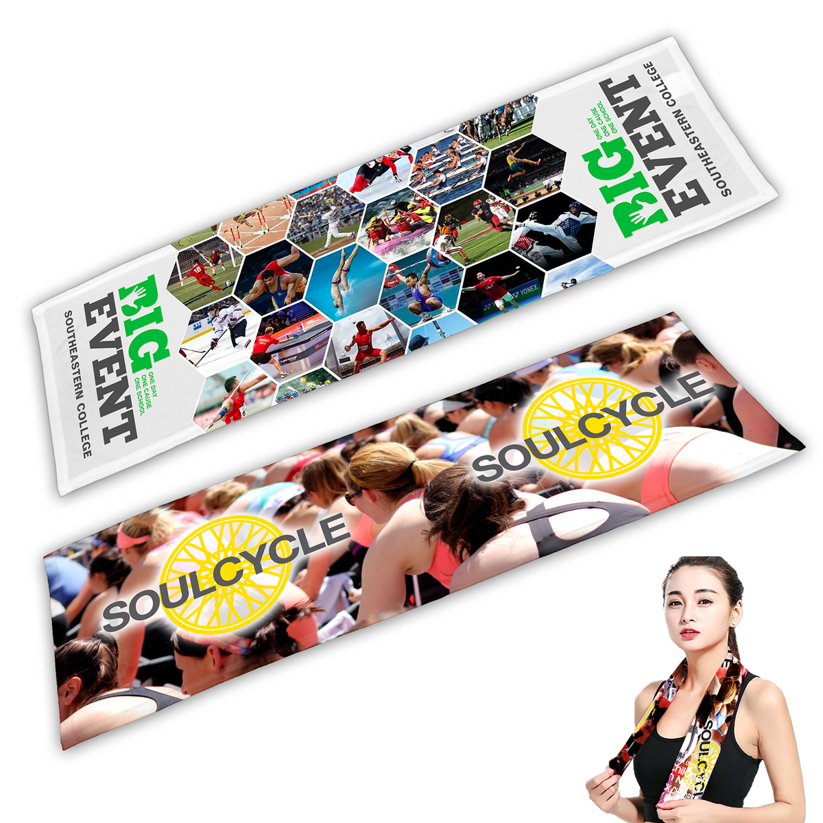 """""""The Deluxe"""" Domestic Full Color Sublimation Cooling Towel"""