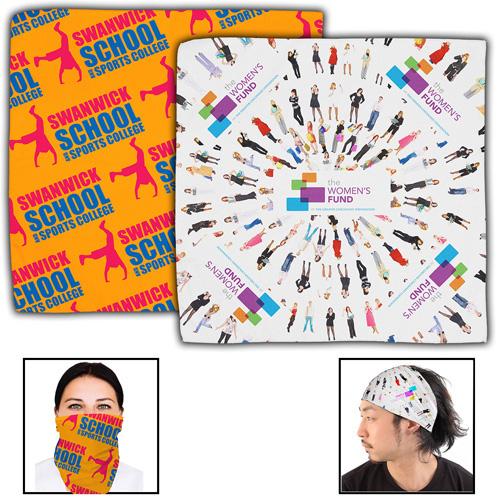 """The Bandana"" Headband and Neck Wear Full Color Sublimation - Overseas Production."