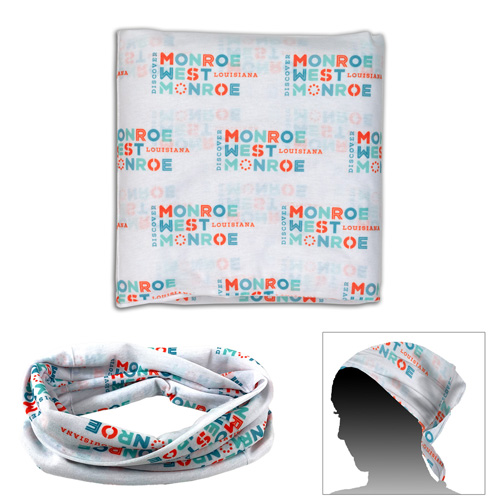 """2-Ply 9 ¾""""W x 9 ½"""" H Multi-Functional Gaiter, Tubular Head & Neck Wear - Overseas Production Sublimated"""