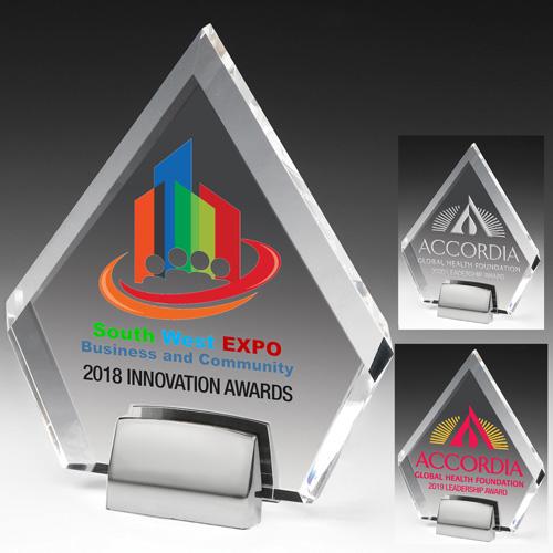 7560S (Screen Print), 7560L (Laser), 7560P (4Color Process) - Diamond Award w/Chrome Base