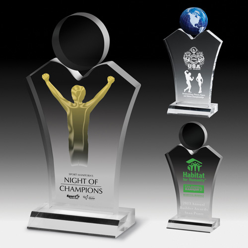 7583S (Screen Print), 7583L (Laser), 7583P (4Color Process) - Standing Humanity Award