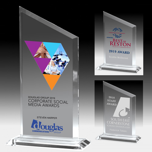 7603-2S (Screen Print), 7603-2L (Laser), 7603-2P (4Color Process) - Slim Line Acrylic Billboard Award