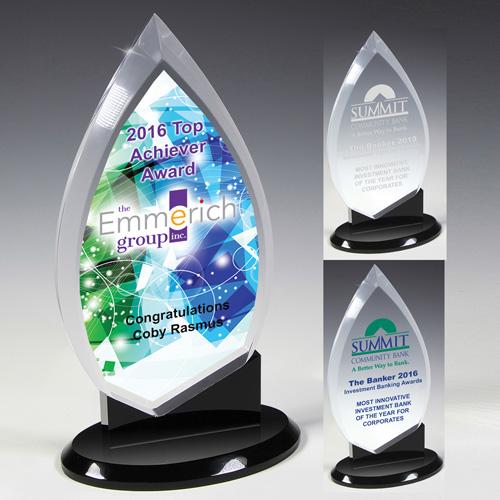 7624-1S (Screen Print), 7624-1L (Laser), 7624-1P (4Color Process) - Century Acrylic Award