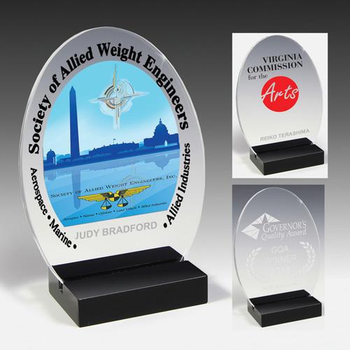 7627-2S (Screen Print), 7627-2L (Laser), 7627-2P (4Color Process) - Freedom Acrylic Award