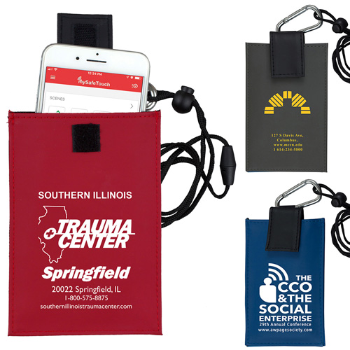 """""""Angel"""" Cell Phone & ID Holder Wallet with Carabiner and Breakaway Safety Lanyard"""