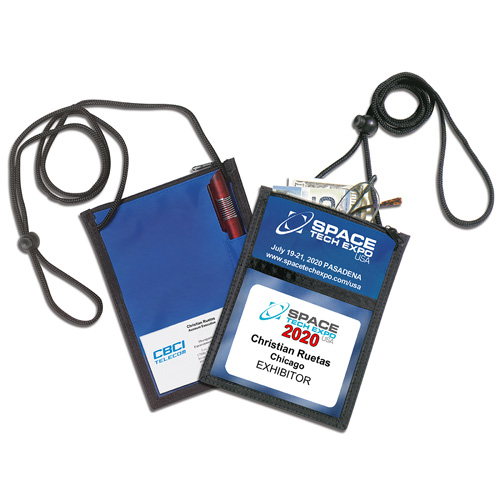 """""""Closer"""" 420D Polyester 5 Function Tradeshow Badgeholder and Neck Wallet"""