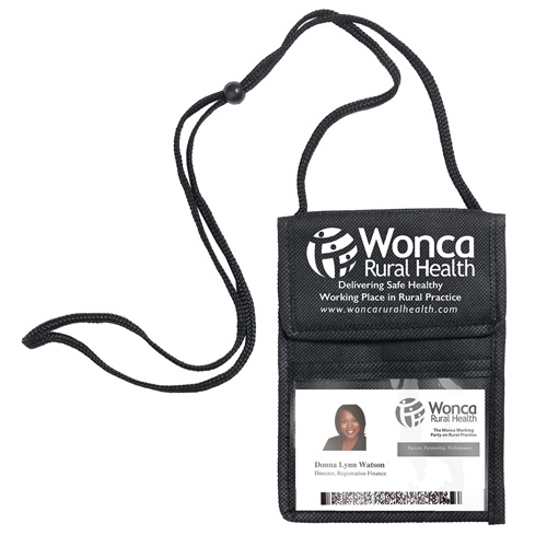 """""""Networker"""" Non-Woven Econo 5 Function Tradeshow Badgeholder and Neck Wallet"""