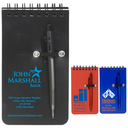 """""""Monterey"""" Pocket Sized Spiral Jotter Notepad Notebook with Pen"""