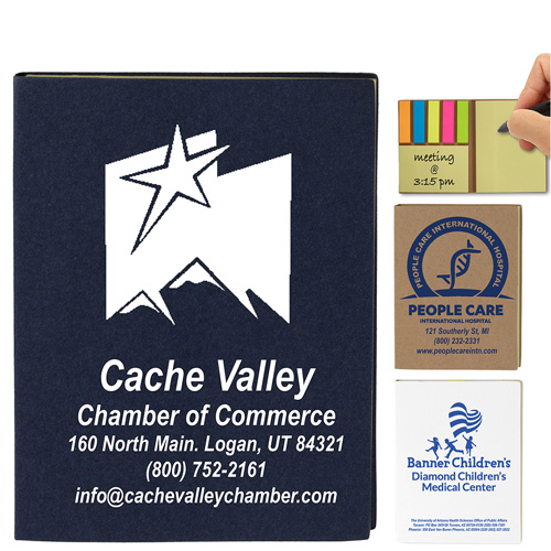 """""""LOOMIS"""" Small Recycled Paper Cover Sticky Notes & Flags"""
