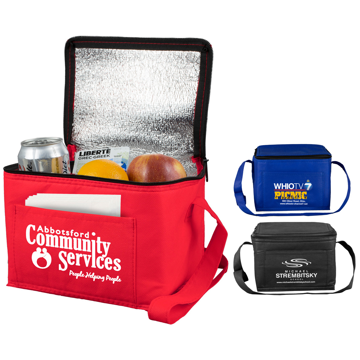 """8"""" W x 6"""" D x 6"""" H - """"Cool-It"""" Non-Woven Insulated Cooler Bag"""