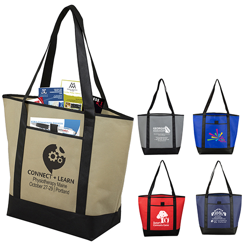 """17-1/2"""" W x 13-1/2"""" H x 6"""" D - """"The City Life"""" Beach, Corporate and Travel Boat Tote Bag"""
