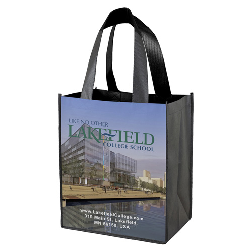 """12"""" W x 13"""" H Full Color Sublimation Grocery Shopping Tote Bags"""