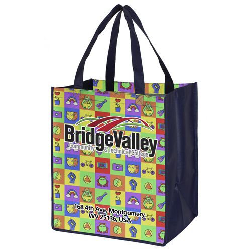 """13"""" x 15""""  Full Color Sublimation Grocery Shopping Tote Bags"""