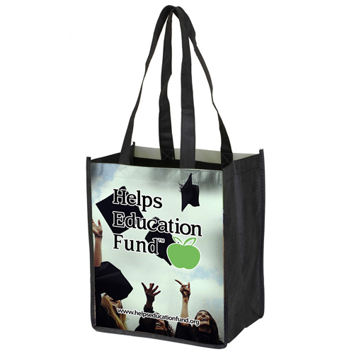 """8"""" x 10"""" Full Color Glossy Lamination Grocery Shopping Tote Bags"""