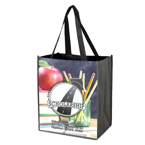 """12"""" x 13"""" Full Color Glossy Lamination Grocery Shopping Tote Bags"""