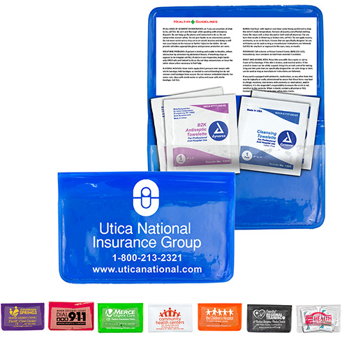 Antiseptic & Disinfectant Wipes Pack In Translucent Vinyl pouch