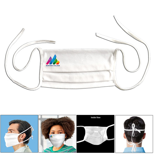USA Made Washable Reusable Face Mask with Full Color Sublimation Imprint