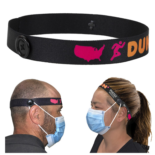"1"" Wide ""Mask Master"" Ear Saver Headband"