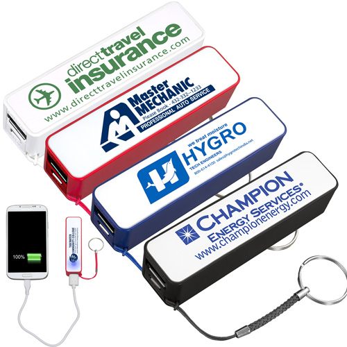 """""""In Charge"""" PB200 UL Listed 2200 mAh Portable Lithium Ion Power Bank Charger"""