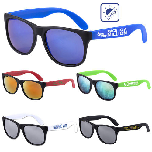 """""""Newport Tint"""" Colored Mirror Tint Lens Sunglasses with Mattte Frame"""