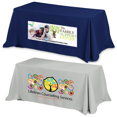 """""""Preakness Eight"""" 3-Sided Economy 8 ft Table Cloth & Covers (PhotoImage Full Color) / Fits 8 ft Table"""