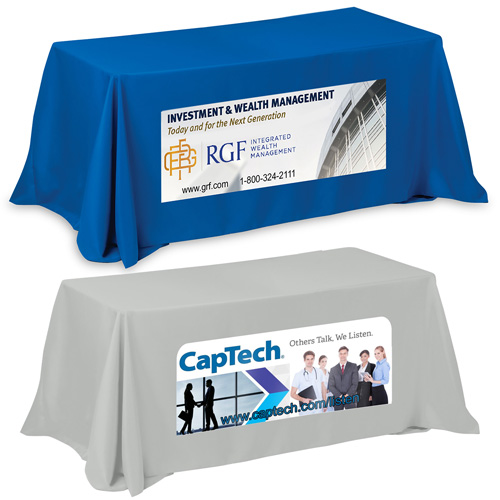 """""""Zenyatta Six"""" 4-Sided Throw Style Table Covers & Table Throws (PhotoImage Full Color) / Fits 6 ft Table"""