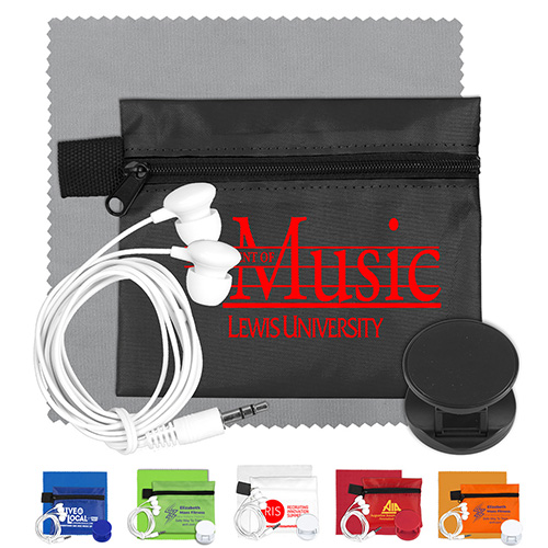 Mobile Tech Car Accessory Kit with Microfiber Cleaning Cloth.