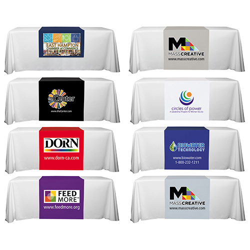 """""""Roger Six"""" 60"""" L Table Runners (PhotoImage Full Color) / Accommodates 3 ft Table and Larger"""
