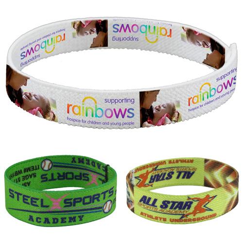 """Wrist Twist 3/4"" Stretchy Elastic Dye Sublimation Wristbands - PhotoImage ® Full Color Imprint"