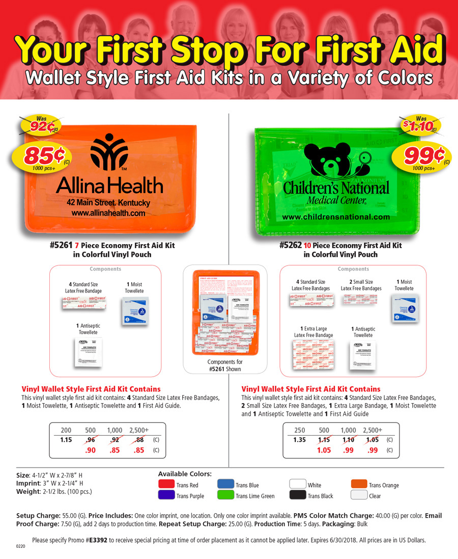 First Aid Kit Sale! Best Value Wallet Style Kits